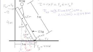 Ladder Example for Static Equilibrium