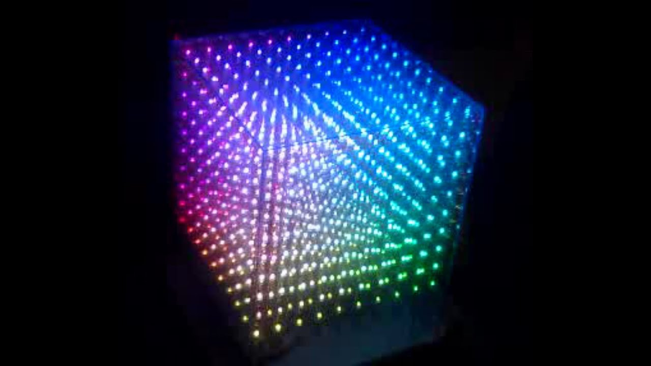 10x10x10 RGB LED cube written ...