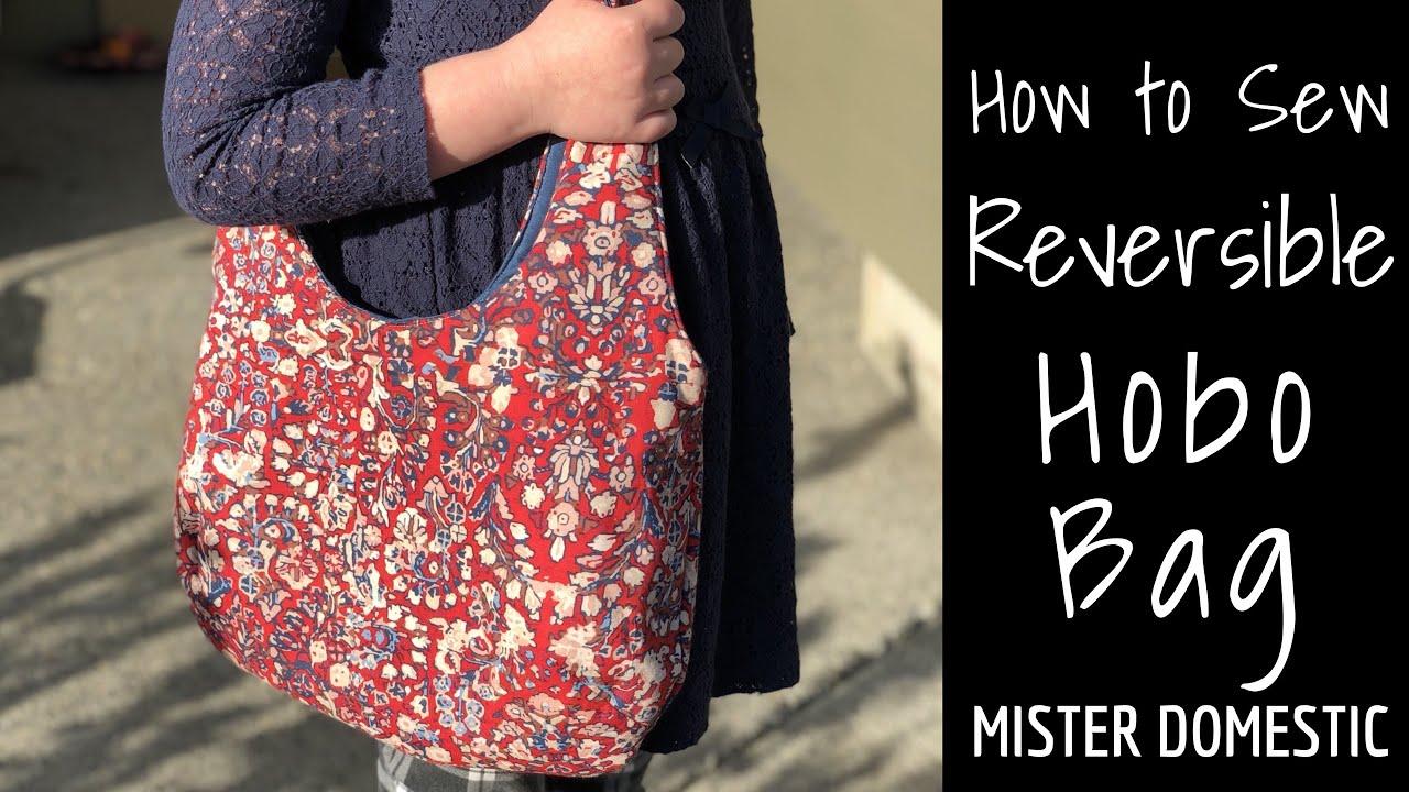 Reversible Hobo Tote Bag Purse