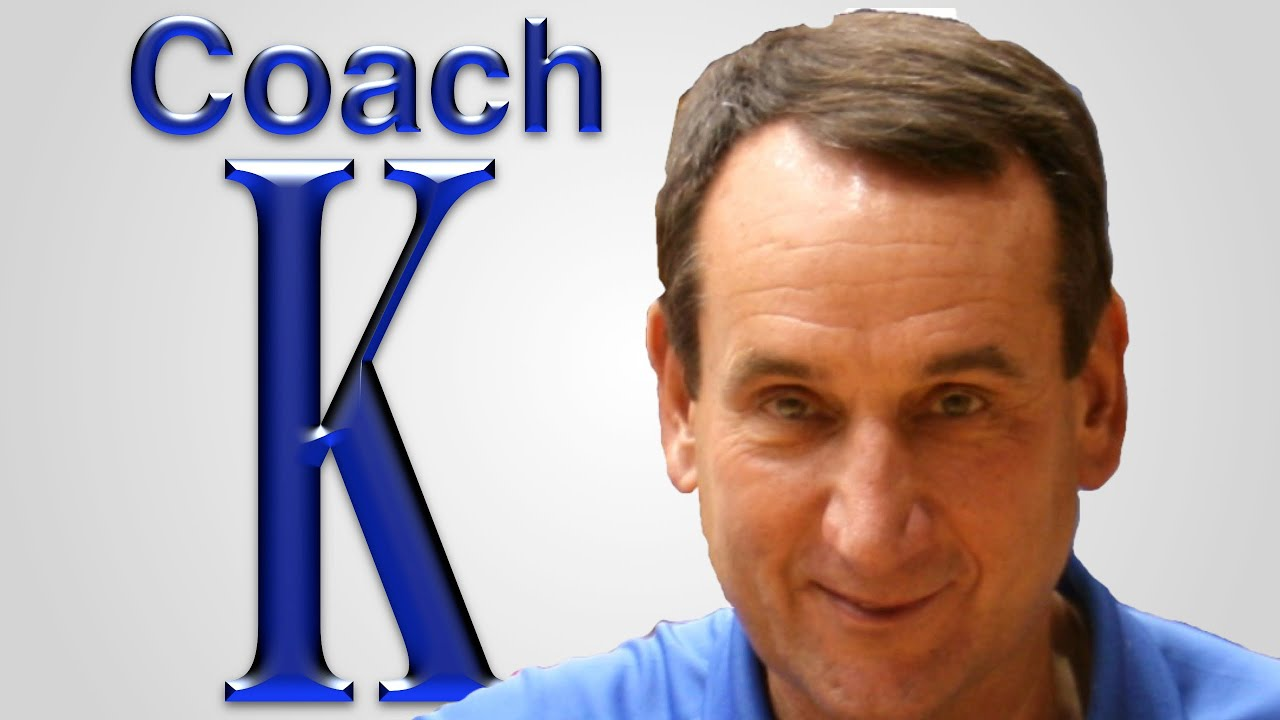 Duke University Coach K Motivates and Inspires - YouTube