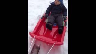 First time sledding Thumbnail