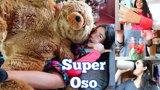 vlogmas 10   el oso gigante de emily usando nutri ninja por primera vez isabelvlogs