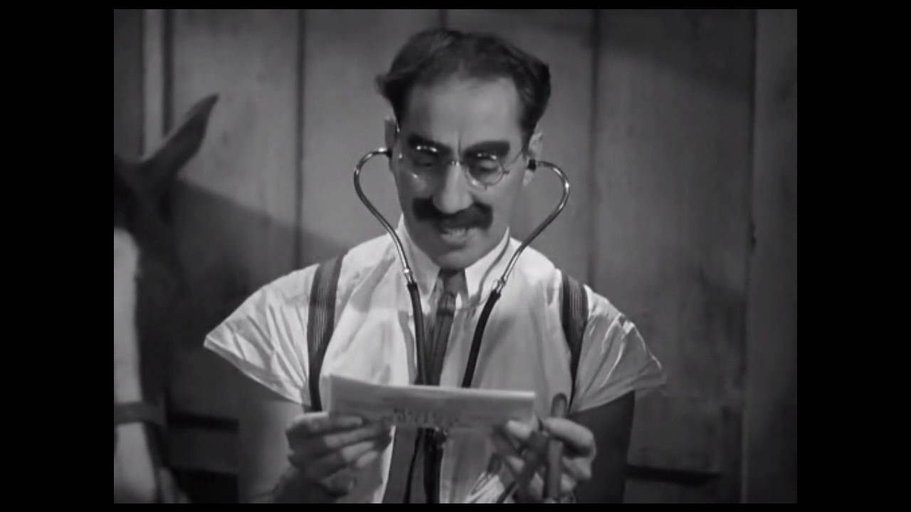 Groucho Marx Horse Examination