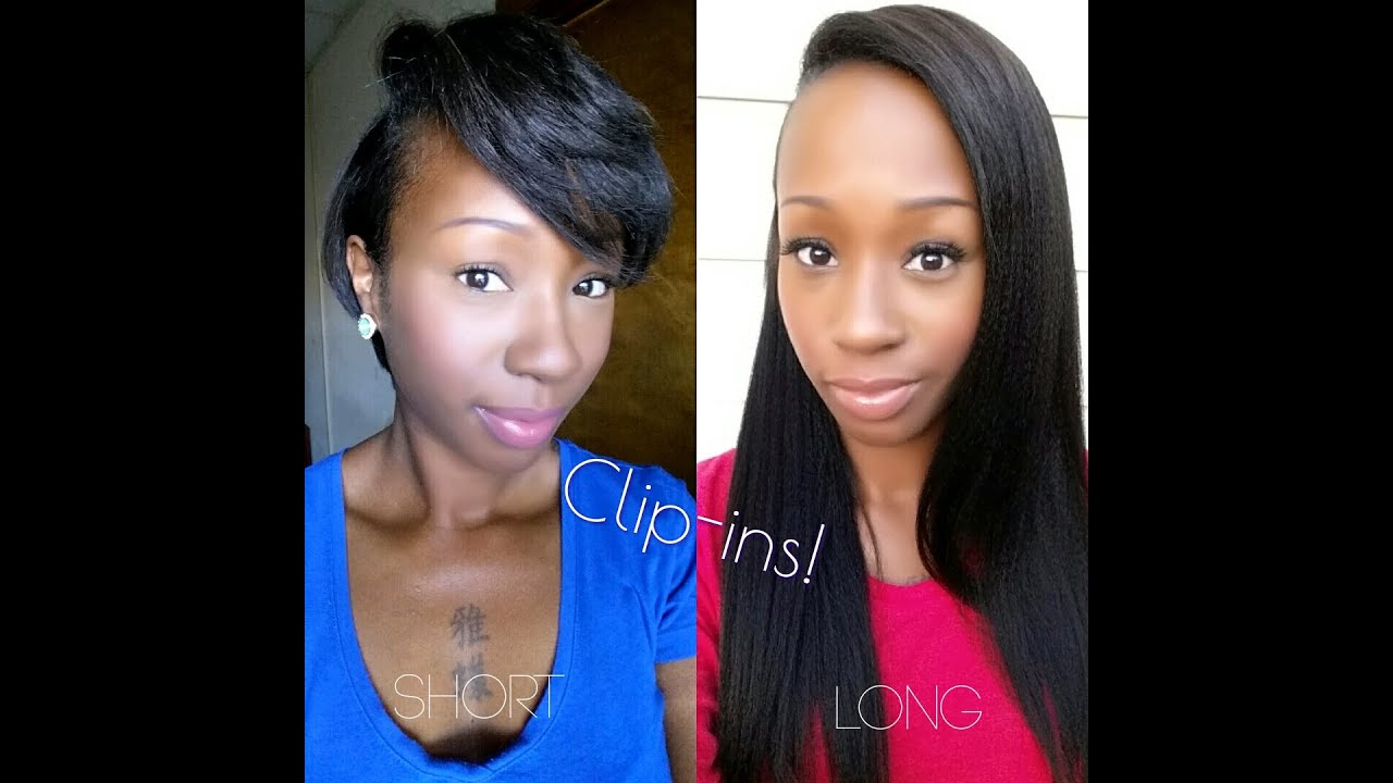How To Install Clip Ins For Short Hair Tutorial Youtube