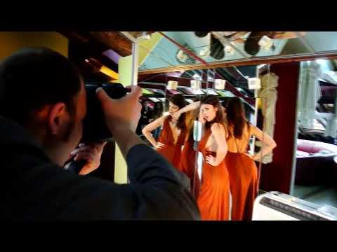 Sara Tommasi Backstage photoshooting