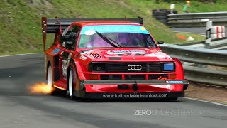 Best of Audi Quattro Rally Group B, Pikes Peak & Hillclimb 5 Cylinder Monsters