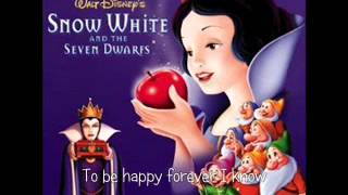 Gambar cover Disney Snow White and the Seven Dwarfs - Some Day My Prince Will Come Lyrics