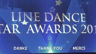 "Line Dance Star Awards 2017 ""BE IN LOVE"",Tanz des Jahres Beginner, Silvia Schill & Tobias Jentzsch"