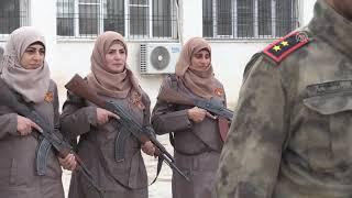 Suriye'deki kadın polisler görüntülendi