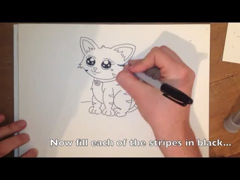 how to draw a chibi cat step by step