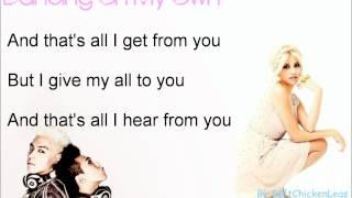 Pixie Lott feat. GD&TOP - Dancing On My Own [Lyrics on screen]