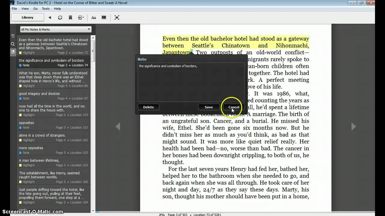 Using the Kindle for PC app