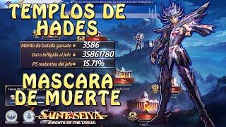 TEMPLOS DE HADES! MASCARA DE MUERTE! 35M+ POR ATAQUE! Saint Seiya Awakening