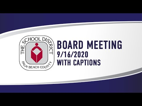 SDPBC Board Workshop & Meeting 9/16/2020 (with Captions)