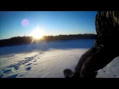 Пошел катать на сноуборде в -42 градуса