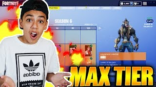 I *Maxed* Out My Fortnite Season 6 Battle Pass Tiers! (Crazy)