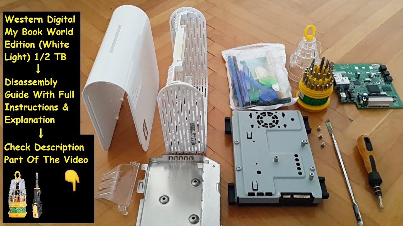 Wd My Book World Edition White Light 3 Tb Upgrade Disassembly Youtube