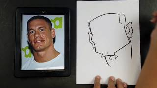 How To Draw a Caricature John Cena