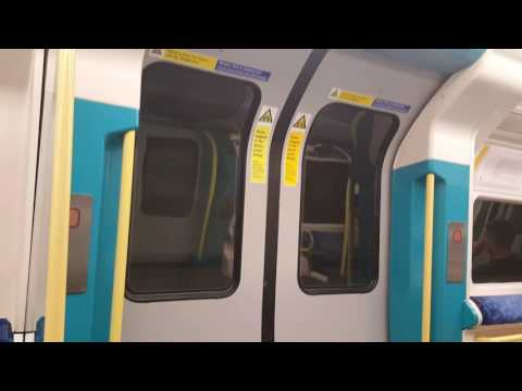 London Underground Tube ride line Jubliee from North Greenwich to Westminster
