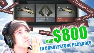 PRAY FOR SOUVENIR DRAGON LORE - $800 in Cobblestone Packages - Case Opening - CS:GO
