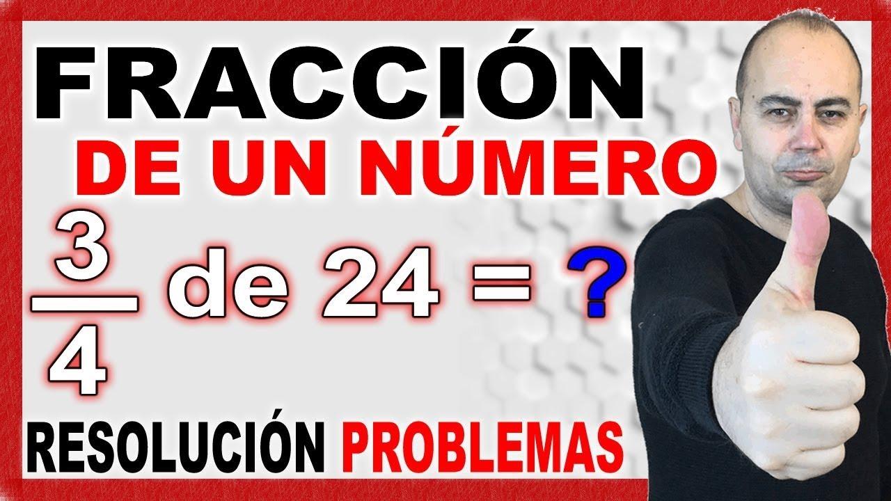 Fracción de un número. Problema de fracciones. - YouTube