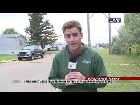 News Police respond to situation in Grand Forks mobile home park