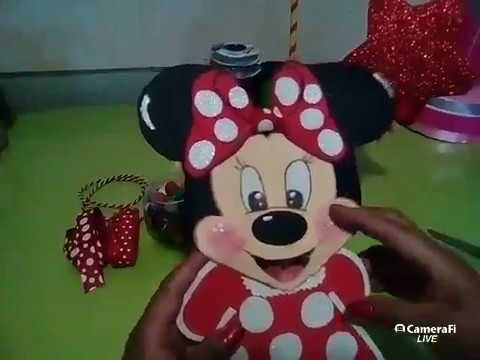 centro de mesa de minnie mouse /tutorial en vivo