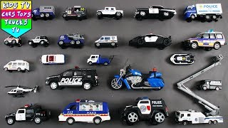 Police Vehicles For Kids Children Babies Toddlers | Police Car Police Van | Kids Learning Video
