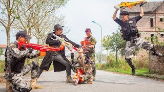 Nerf Guns War : Couple S.W.A.T Of TTNerf Team Special Attack Crime Of Using Illegal Weapon Dangerous