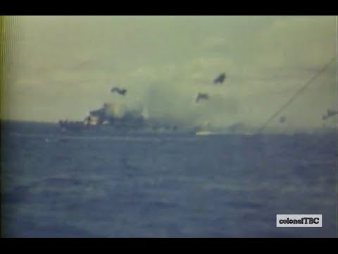Kamikaze attacks aircraft carrier USS Hancock (CV-19) - 7 April 1945