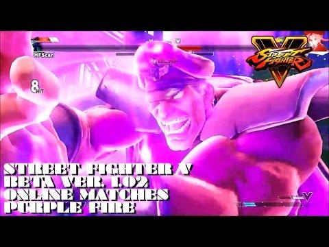 SFV Beta Ver 1.02 - Online Matches - Purple Fire
