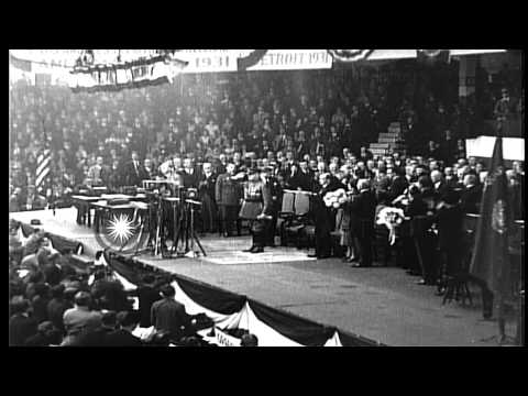 The Republican National Convention of 1932, in Chicago, Illinois HD Stock Footage