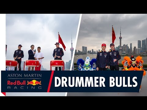 Drummer Bulls | Max Verstappen and Pierre Gasly get a traditional Chinese welcome.
