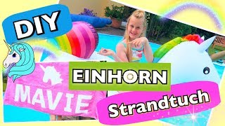 EINHORN 🦄 DIY SOMMER Strand Pool Handtuch coole Mädchen