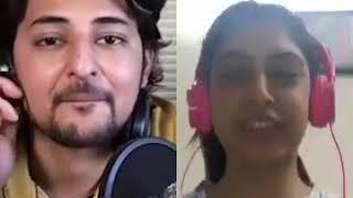 Niti Taylor singing with Darshan Raval