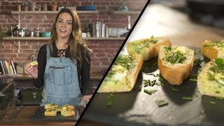 Herb and Goat Cheese Baked Egg Boats  Megan Mitchell