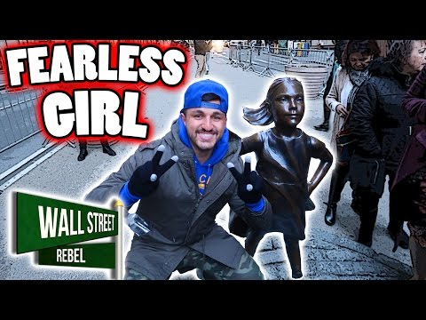 FEARLESS GIRL STATUE ON WALL STREET!! INTERNATIONAL WOMEN'S DAY STATUE IN NEW YORK CITY!