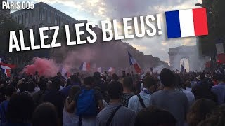 WATCHING FRANCE WIN THE WORLD CUP IN PARIS!!!