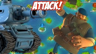 Boom Beach Grenadier + Tank Attack Strategy!