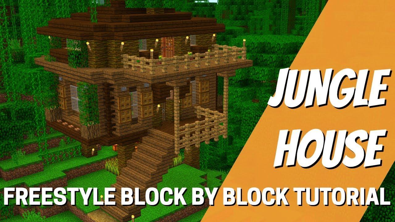 Minecraft: How to make a Jungle House  Jungle Tree House Tutorial (With  Avomance 11)