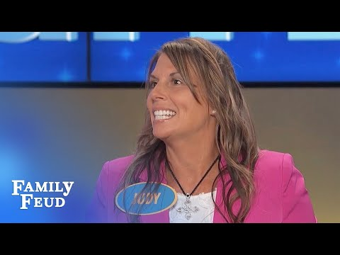 Thumbnail: Who needs IMPLANTS when I got a HANDFUL OF... | Family Feud