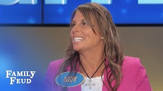 Who needs IMPLANTS when I got a HANDFUL OF... | Family Feud