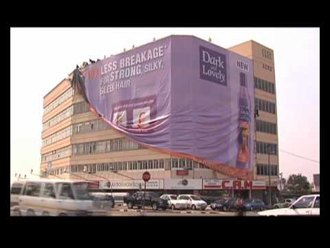Dark And Lovely Outdoor Advertising Building Wrap Youtube