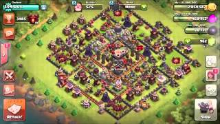 Clash of Clans the NUKE ARTILLERY!! Anti Artillery achievement!! Family of the goblin species! Yo