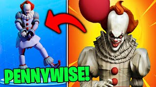 SKIN from PENNYWISE in the STORE of FORTNITE!! 🤡 FORTNITE X IT CHAPTER 2 😱