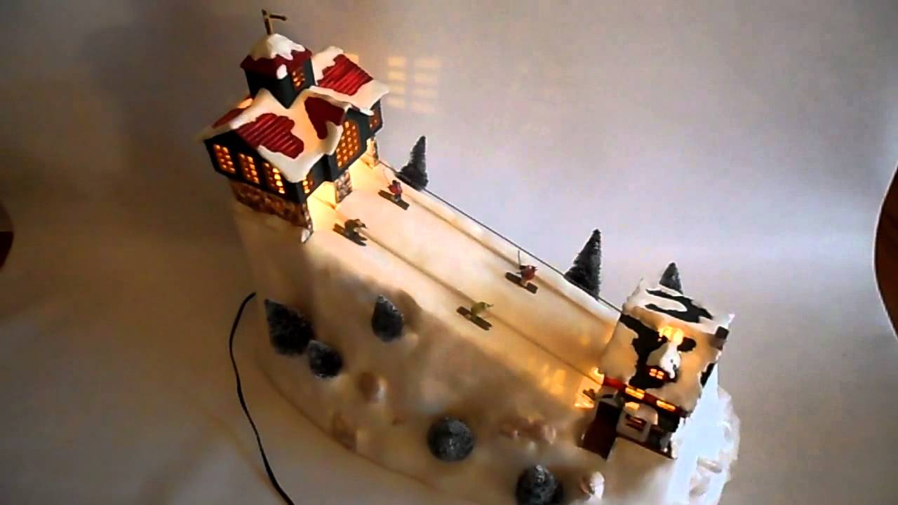Christmas Village Ski Lift.St Nickolas Square Village Ski Hill