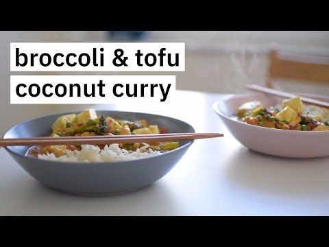 Broccoli & Tofu Coconut Curry | Quick And Healthy