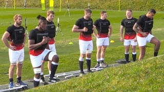 England Rugby Team Training Ahead Of Six Nations Opener