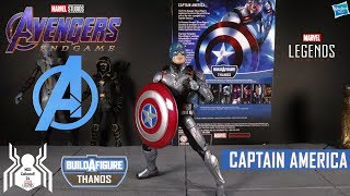 Marvel Legends CAPTAIN AMERICA Avengers Endgame Wave 3 Armored Thanos BAF Figure Review