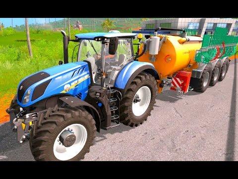 Trecker Trickfilm Traktor Zeichentrick Für Kinder Und